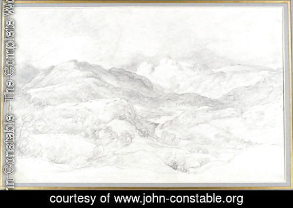 John Constable - Langdale Pikes from Elterwater, 4th September 1806
