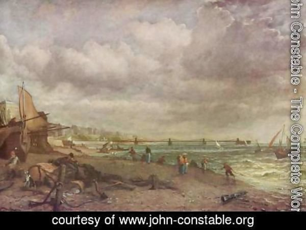 John Constable - Marine Parade and Old Chain Pier, 1827