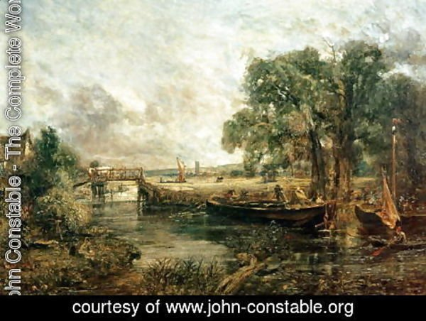 John Constable - Sketch for 'View on the Stour, near Dedham' 1821-22