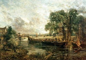 Sketch for 'View on the Stour, near Dedham' 1821-22