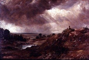 John Constable - Hampstead Heath, Branch Hill Pond, 1828