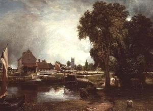 John Constable - Dedham Lock and Mill 2