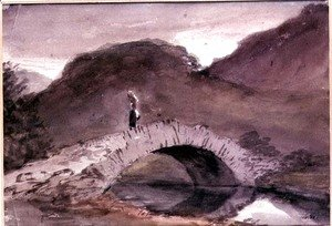 John Constable - A Bridge at Borrowdale