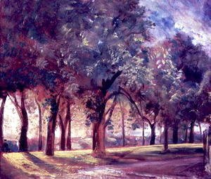 John Constable - The Judges Walk  Hampstead