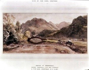 John Constable - Sketch of Borrowdale, 1806, Afternoon