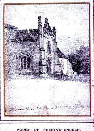 John Constable - Porch of Feering Church, 28th June, 1814
