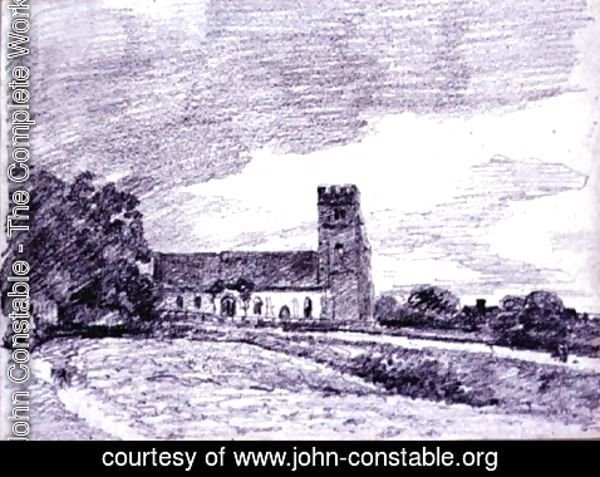 John Constable - Feering Church, 1814