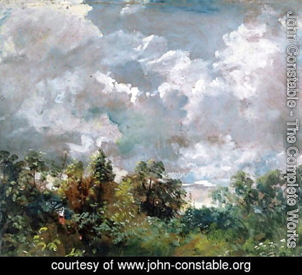 John Constable - Study of Sky and Trees