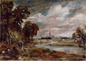 John Constable - Salisbury Cathedral: from the meadows
