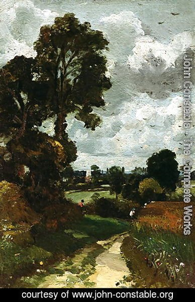 John Constable - Oil Sketch of Stoke-by-Nayland