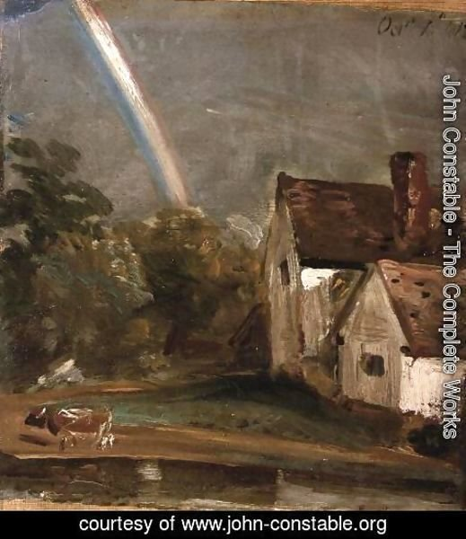 John Constable - Willy Lott's House with a Rainbow, dated October 1st, 1812