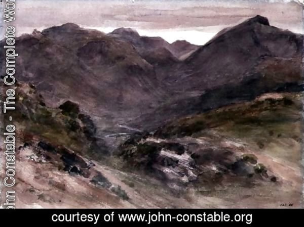 John Constable - A View of Borrowdale
