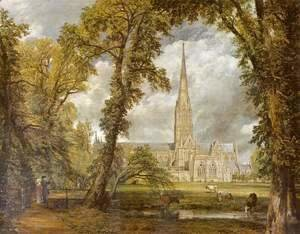 View of Salisbury Cathedral from the Bishop's Grounds  c.1822