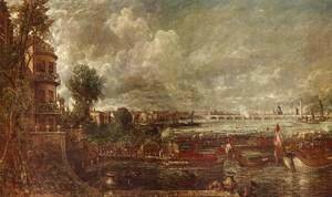 John Constable - The Opening of Waterloo Bridge seen from Whitehall Stairs, June 18th 1817