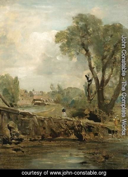 John Constable - Flatford Mill from the Tow Path