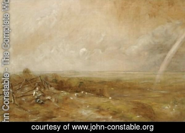 John Constable - Child's Hill Looking Towards Harrow with Rainbow