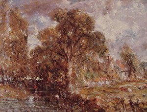 John Constable - Scene on a River I