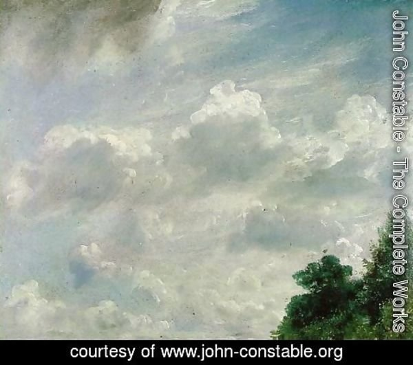 John Constable - Study of Clouds at Hampstead