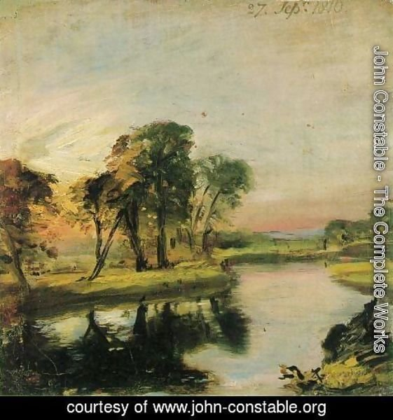 John Constable - A View on the Stour