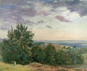 John Constable - Hampstead Heath, Looking Towards Harrow