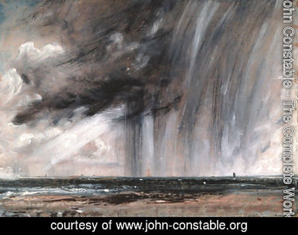 John Constable - Seascape Study with Rain Cloud