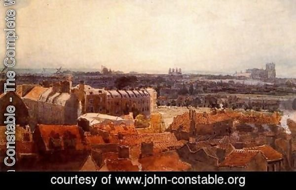 John Constable - The abbey of Westminster and Lambeth Palace