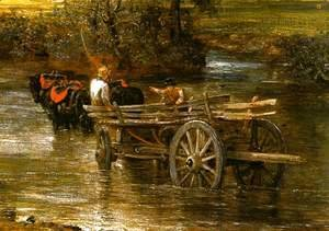 John Constable - The Hay Wain (detail)