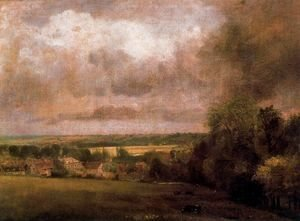 John Constable - The Stour Valley from Higham