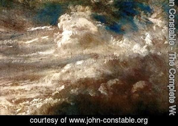 John Constable - The wave's study