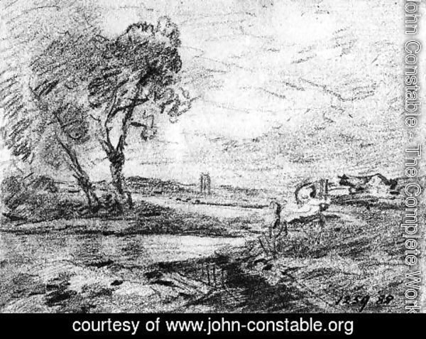 John Constable - View of a Winding River 2
