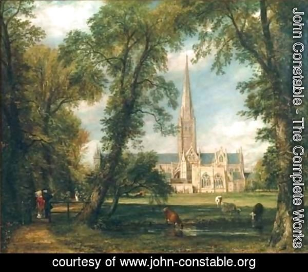 John Constable - Salisbury Cathedral from the Bishops Grounds