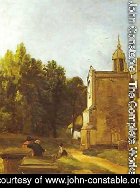 John Constable - A Church Porch (The Church Porch East Bergholt) 1809