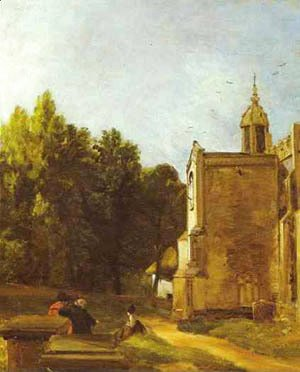A Church Porch (The Church Porch East Bergholt) 1809
