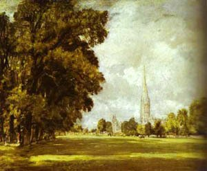 John Constable - A View Of Salisbury Cathedral 1825