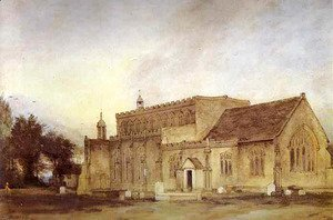 John Constable - East Bergholt Church 1811