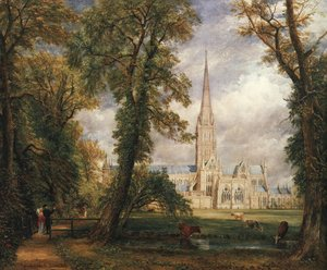John Constable - Salisbury Cathedral From The Bishop's Garden 1826