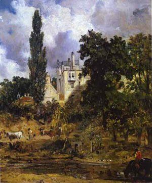 John Constable - The Grove Hampstead (The Admirals House) 1832