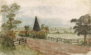 John Constable - A Kiln on the Hornsey Road, London