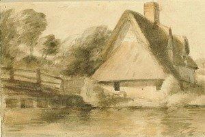 John Constable - Bridge Cottage and Flatford Bridge