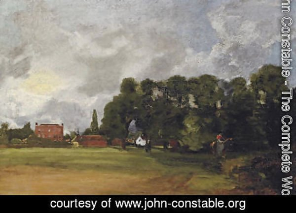 John Constable - View of East Bergholt House
