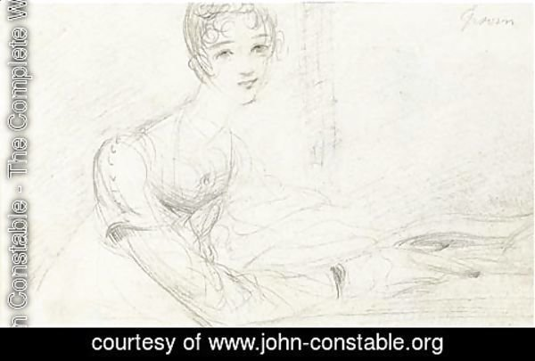 John Constable - Portrait study of Jane or Ann Gubbins