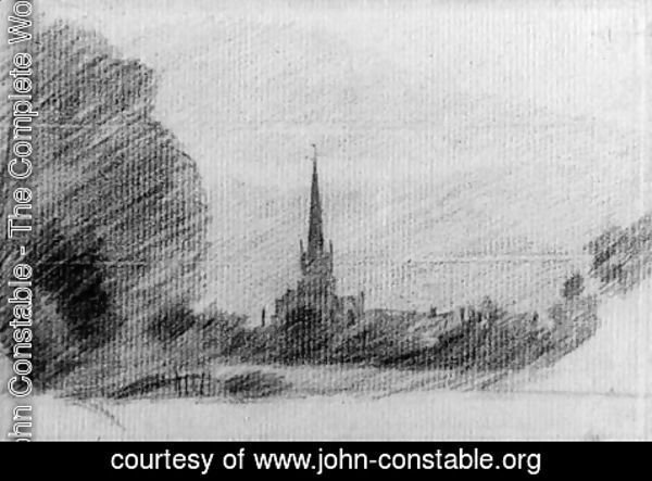 John Constable - Solihull Church from the grounds in front of Malvern Hall