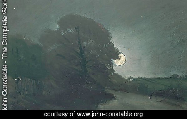 The edge of a heath by moonlight