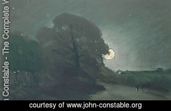 John Constable - The edge of a heath by moonlight