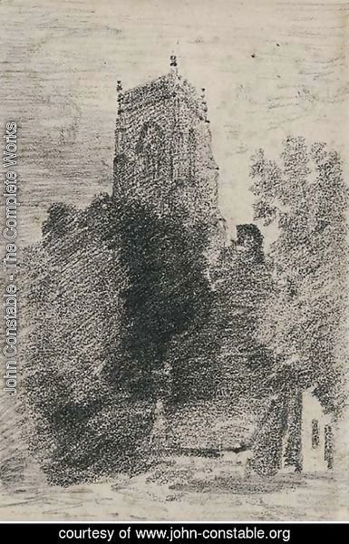 John Constable - The tower of St. Michael's, Framlingham, Suffolk