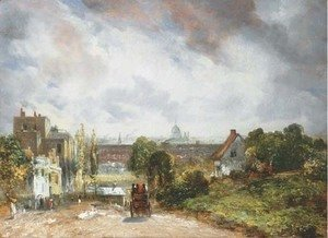 John Constable - View of the City of London from Sir Richard Steele's Cottage, Hampstead