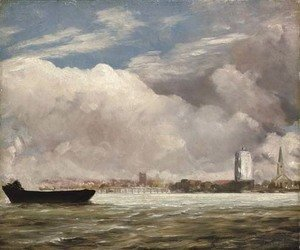 John Constable - View on the Thames near Battersea Bridge, with Chelsea beyond, London