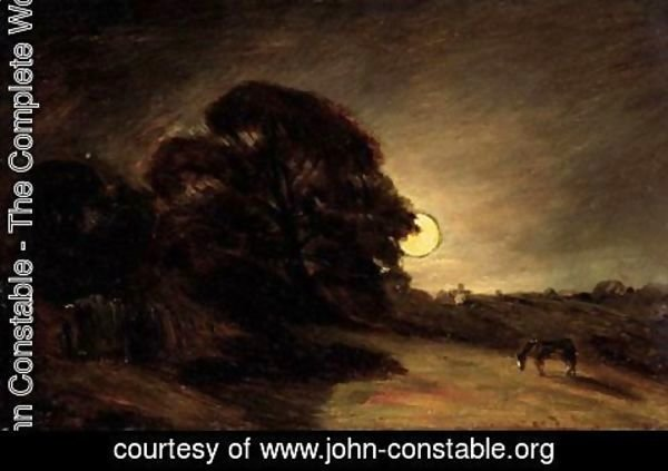 John Constable - Edge Of A Heath By Moonlight