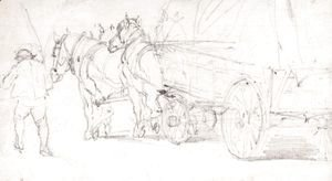 John Constable - A Horse And Cart