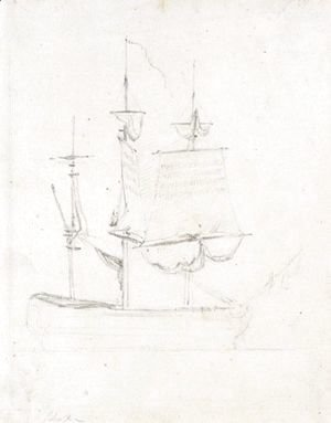 John Constable - Study Of A Ship